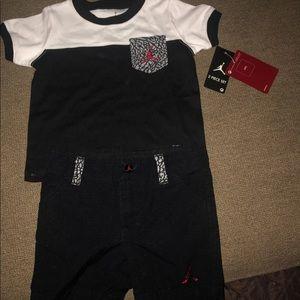 Jordan short & t shirt set. Size 12 months